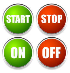 Start-stop and on-off buttons vector