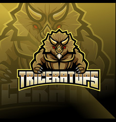 triceratops esport mascot logo design vector image