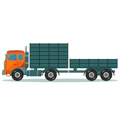 Truck with High and Low Trailers vector image