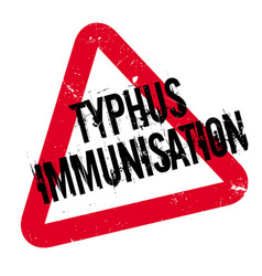 Typhus immunisation rubber stamp vector