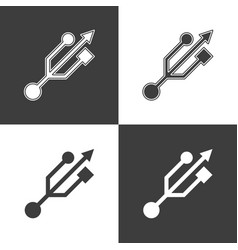 usb icon sign vector image