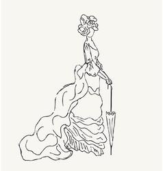 Vintage woman design vector