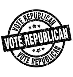 Vote republican round grunge black stamp vector