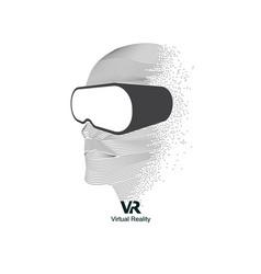 vr head vector image