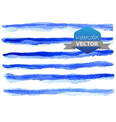 Watercolor beautiful blue lines vector