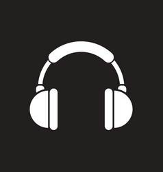 White icon on black background music vector