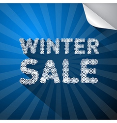 Winter Sale Title Made from Snowflakes on Blue vector