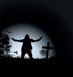 zombie night vector image