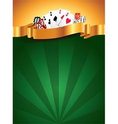 casino vertical background vector image