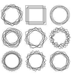 line shape art frame 01 vector image