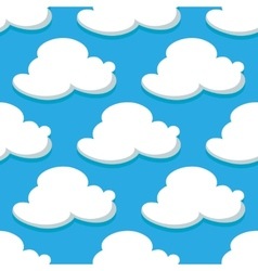Seamless pattern of sky and white clouds vector image vector image