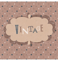 vintage design card vector image