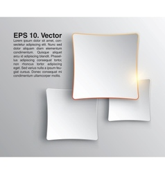Abstract squares clean background Stylish design vector image