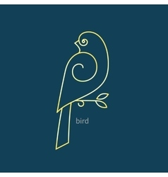 bird logo in a trendy linear style vector image