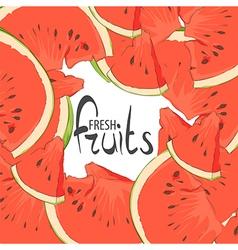 Delicious slices vector image