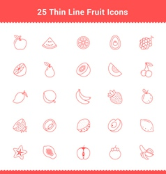 Set of Thin Line Stroke Fruit Icon vector image vector image