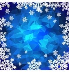 Snowflakes polygonal background vector