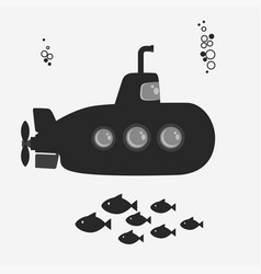 submarine with periscope vector image vector image