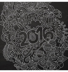 2016 new year hand lettering and doodles elements vector