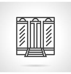 Boutique facade simple line icon vector image vector image