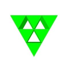 Green triangle arrow cartoon icon vector