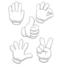 Hand sign cartoon vector image