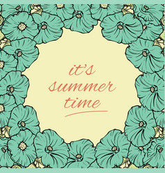 its summer time wallpaper with flowers fun party vector image vector image