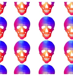Seamless background with geometric skull vector image