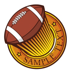 american football club emblem vector image vector image
