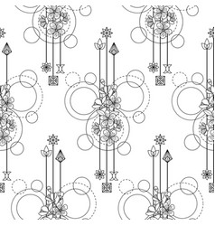 cherry flowers seamless pattern vector image