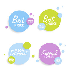 Set of round colorful shapes abstract banners vector