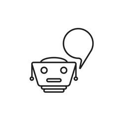 thin line black chatbot logo vector image vector image