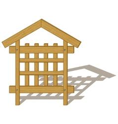 wood billboard vector image vector image