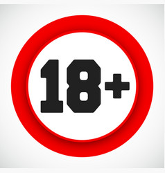 18 age restriction sign prohibited under eighteen vector image
