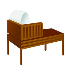 A reading desk is placed vector