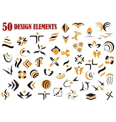 Abstract graphic design elements and symbols vector image