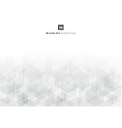 abstract gray hexagons overlapping pattern on vector image