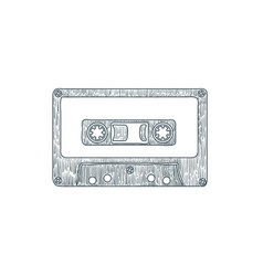 Audio cassette tape isolated on white background vector