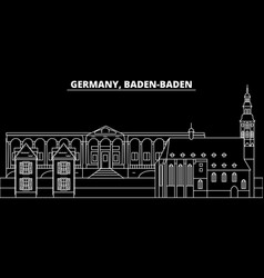 Baden-baden silhouette skyline germany vector