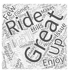 Best atv trails Word Cloud Concept vector