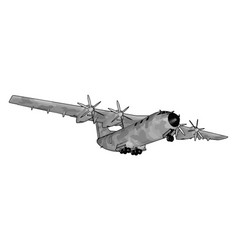 Big old bomber on white background vector