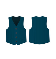 blue suit vest vector image