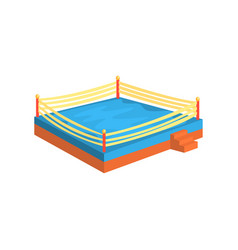 Boxing ring sports equipment colorful cartoon vector