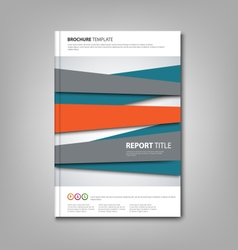 Brochures book or flyer with abstract design vector image
