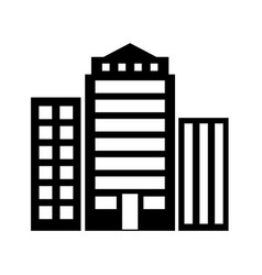 buildings icon architecture symbol vector image