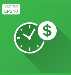 Business and finance management icon in flat vector