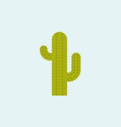 cactus icon flat design vector image