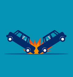car accident concept business broken road vector image