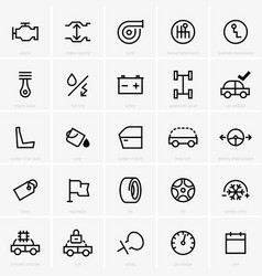 car features icon vector image