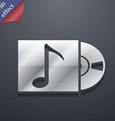 Cd player icon symbol 3d style trendy modern vector